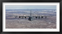 Framed Front View of a MC-130 Aircraft