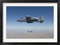 Framed A-10C Thunderbolt Releases a GBU-12 Laser Guided Bomb