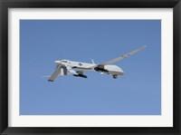 Framed MQ-1 Predator Over New Mexico