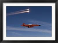 Framed BQM-74 Target Drone Fires Flares