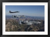 Framed F-15 Eagle and Two A-10 Thunderbolts, Central Idaho