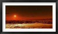 Framed Spring Arrives near the Martian Polar Cap
