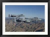 Framed Two A-10 Thunderbolt's Fly over Central Idaho