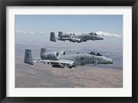 Framed Two A-10 Thunderbolts, Saylor Creek, Idaho