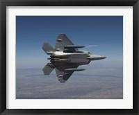 Framed F-22 Raptor Maneuvers over New Mexico