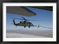 Framed HH-60G Pave Hawk Conducts Aerial Refueling from an HC-130