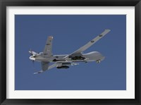 Framed MQ-9 Reaper in the Blue Skies of New Mexico