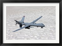 Framed MQ-9 Reaper Over Southern New Mexico