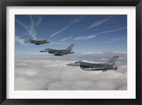 Framed Three F-16's over the Clouds of Arizona