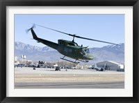Framed UH-1N Twin Huey near Kirtland Air Force Base, New Mexico