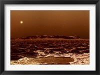 Framed View from the Edge of the Southern Polar Cap of Mars