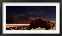 Framed Artist's Depiction of a Lone Astronaut on Another Planet