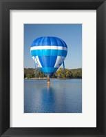 Framed Australia, Canberra, Hot Air Balloon, Lake Burley Griffin