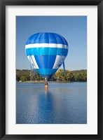 Framed Australia, Canberra, Hot Air Balloon, Lake Burley Griffin