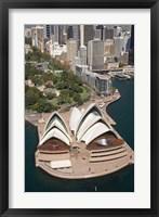 Framed Sydney Opera House, Botanic Gardens, Sydney, Australia