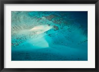 Framed Upolu Cay and Dive Boats, Great Barrier Reef Marine Park, Australia