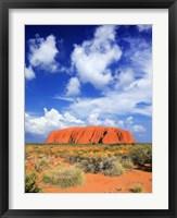 Framed holy mountain of Uluru, Ayers Rock, Australia