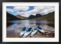 Framed Kayaks, Cradle Mountain and Dove Lake, Western Tasmania, Australia