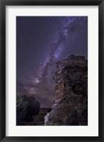 Framed Rocky Hoodoo Against the Milky Way, Oklahoma