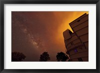 Framed Milky Way Appears through Smoke over the McDonald Observatory