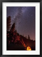 Framed Milky Way over Mountain Tunnel in Yosemite National Park