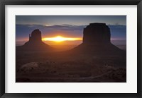 Framed Mitten Formations in Monument Valley, Utah