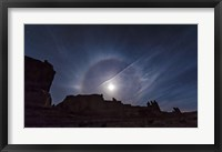Framed Moon Ring over Arches National Park, Utah