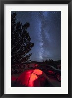 Framed Milky Way Sets Behind a Glowing Tent, Oklahoma
