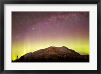 Framed Aurora Borealis, Comet Panstarrs and Milky Way over Yukon, Canada
