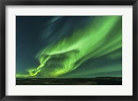 Framed Large Aurora Borealis Display in Iceland