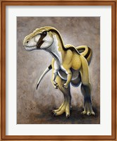 Framed Megalosaurus, a Large Meat-Eating Dinosaur of the Jurassic period