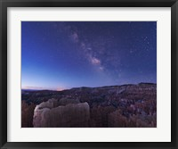 Framed Milky Way over the Needle Rock Formations of Bryce Canyon, Utah