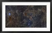 Framed Iris Nebula and Dusty Region in Cepheus constellation