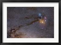 Framed Rho Ophiuchus Area in Sagittarius