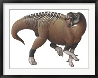 Framed Muttaburrasaurus Dinosaur from the Early Cretaceous Period