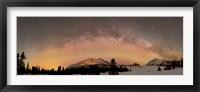 Framed Aurora Borealis and Milky Way over Yukon, Canada