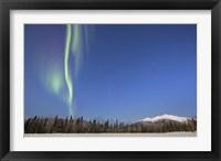 Framed Aurora Borealis near Mayo, Yukon, Canada