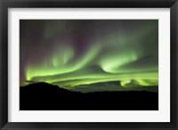Framed Aurora Borealis over Gray Peak, Whitehorse, Yukon Canada