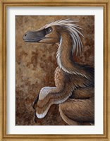 Framed Velociraptor, a Dromaeosaurid dinosaur of the Cretaceous Period