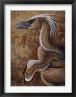 Framed Velociraptor, a Dromaeosaurid dinosaur of the Cretaceous Period