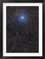Framed Polaris Surrounded by Molecular Clouds