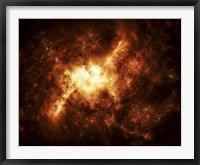 Framed Nebula Surrounded by Stars