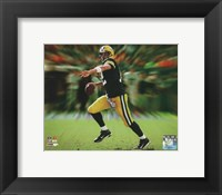 Framed Aaron Rodgers Motion Blast