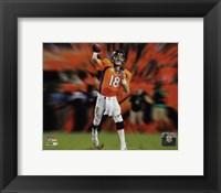 Framed Peyton Manning Motion Blast