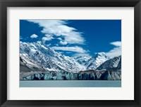Framed Tasman Glacier Terminal Lake, South Island, New Zealand