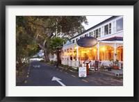 Framed Historic Duke of Marlborough Hotel, Russell, Bay of Islands, Northland, New Zealand