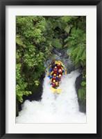 Framed Raft, Tutea's Falls, Okere River, near Rotorua, New Zealand