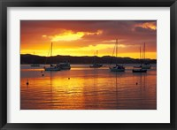 Framed Sunset, Russell, Bay of Islands, Northland, New Zealand