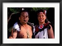 Framed New Zealand, North Island, Maori culture and costume