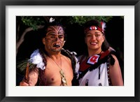 Framed New Zealand, North Island, Maori culture and costume